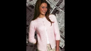 How to crochet easy jacket cardigan free pattern