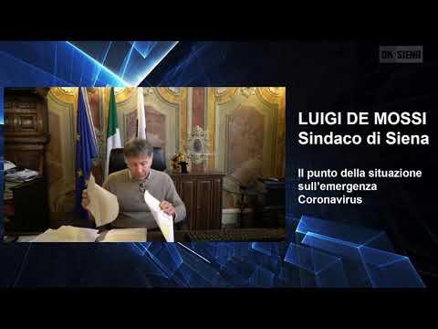 Luigi De Mossi fa il punto della situazione del Coronavirus
