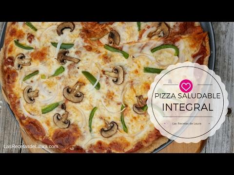 Pizza Casera Fácil - INTEGRAL y SALUDABLE - Las Recetas de Laura