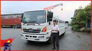 Xe tải cẩu Hino 6 tấn gắn cẩu Unic