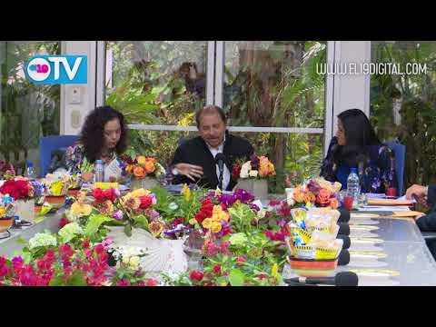 Comandante Daniel y Compañera Rosario sostienen encuentro con nuevos directivos de Amcham