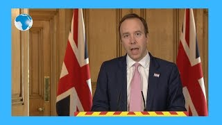 Coronavirus: UK health secretary gives  update on toll, Boris