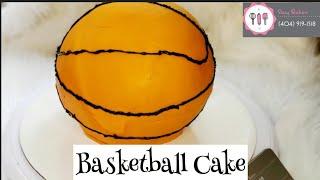 Easy Basketball Birthday Cake Tutorial