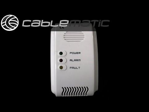 Detector de gas LPG butano propano con alarma acústica distribuido por CABLEMATIC ®