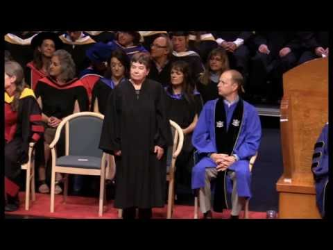 Dr. Mary Thompson receives Honorary Doctor of Science from VIU