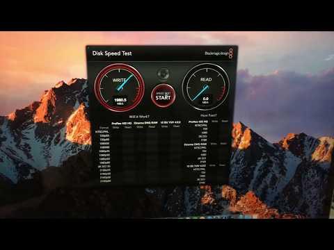 """Speed Test Macbook Pro 15 2017 512gb """"TouchBar"""""""