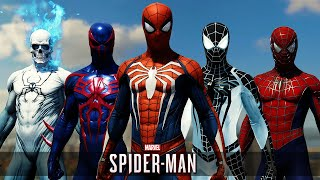 Spider-Man PS4 | All Suits & Costumes + DLC (Gameplay)