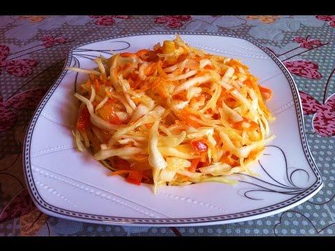 Маринованный Салат из Капусты / Маринованная Капуста / Вкусный Салат / Pickled Cabbage Recipe
