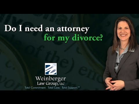 FAQ: Do I need an attorney for my divorce?