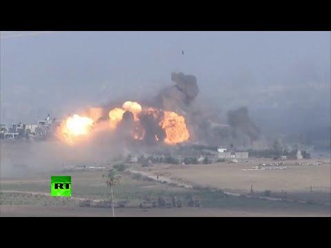 Intenso bombardeo israelí de Gaza minutos antes del alto el fuego