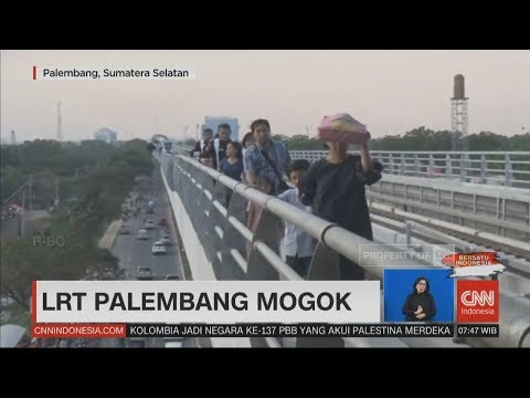 LRT Palembang Mogok di Tengah Perjalanan