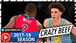 Lonzo Ball vs John Wall CRAZY PG Duel Highlights (2017.10.25) Lakers vs Wizards - MUST SEE!
