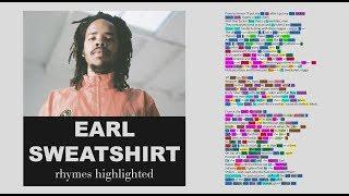 Earl Sweatshirt   Hive   Verse 1 & 2   Lyrics, Rhymes Highlighted (088)
