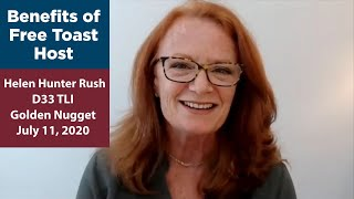 Benefits of Free Toast Host - Helen Hunter Rush, DTM