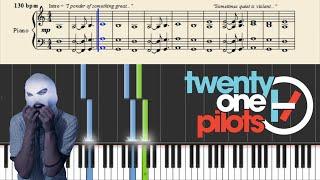 Twenty One Pilots: Car Radio (Easy Piano Tutorial) + Sheets