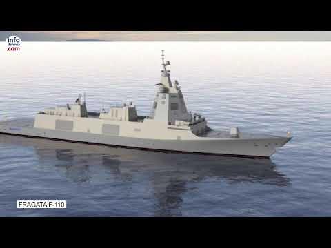 Nueva fragata F-110 de Navantia para la Armada española