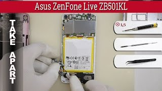 How to disassemble 📱 Asus ZenFone Live ZB501KL Take apart Tutorial