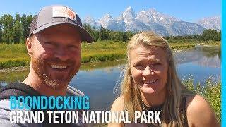 SECRET BOONDOCKING IN GRAND TETON NATIONAL PARK (RV AMERICA)