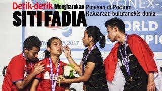 Mengharukan detik detik Siti Fadia pingsan di podium BWF WJC