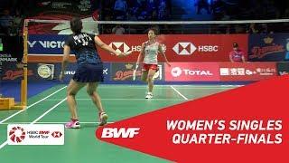 QF   WS   Nozomi OKUHARA (JPN) [8] vs Saina NEHWAL (IND)   BWF 2018