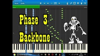Backbone (Disbelief Papyrus)-Synthesia-Undertale sheet music