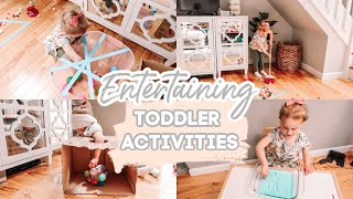 HOW TO ENTERTAIN A 3 YEAR OLD AT HOME| 9 INDOOR TODDLER ACTIVITIES| Tres Chic Mama