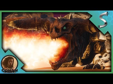 THE DRAGONS ARENA! DEFEATING THE BASILISK & THE LEGENDARY BONE DRAGON - Conan Exiles Adventures [E6]