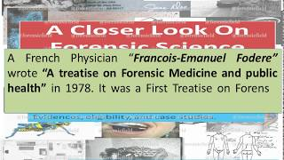 World History Of Forensic Science