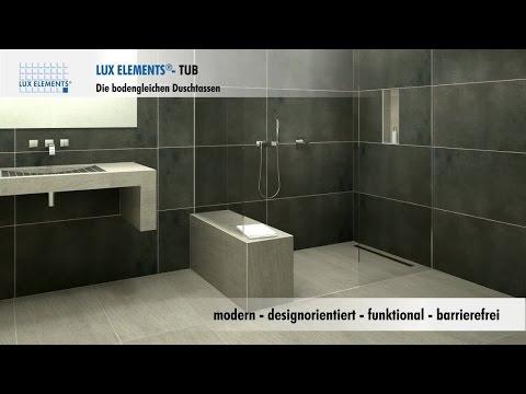 LUX ELEMENTS Produkt: bodengleiche Duschen für jedes Bad