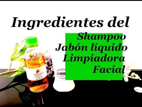 Ingredientes Activos y Ecológicos del: Shampoo, Jabón Líquido y Limpiador Facial