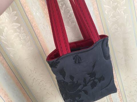 Tasche nähen mit Stefff / Teil 2 Träger besticken und zusammen nähen
