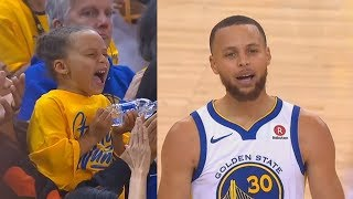 Stephen Curry Shocks His Daughter Riley Curry With Unbelievable Shots! Warriors vs Rockets Game 3 - Video Youtube