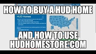 How to Buy a HUD Home using Hudhomestore.com