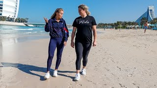 Friends reunited, Clijsters and Kenin hit the beach