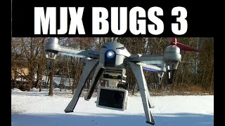 MJX Bugs 3 Victure 4K 60FPS Touch Screen Action Camera HIGH 17 Mph Wind Flight Freezing Test Review