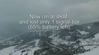 DJI FPV Drone FCC Hack Long range test