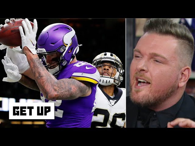 Pat McAfee laughs at the NFL's response to pass interference no-call in Saints vs. Vikings | Get Up