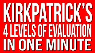 Kirkpatrick's 4 Levels of Evaluation