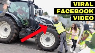 ANGRY FARMER DRIVES INTO VEGAN ACTIVISTS