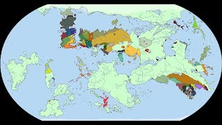 Entire World Map of Game of Thrones