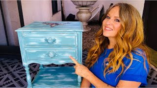 How To Chalk Paint Furniture With Two Colors