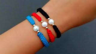 Easy Friendship Bracelet//How To Make Thread Bracelet// Useful & Easy