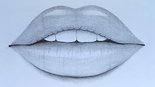 How To Draw Lips With Pencil Sketch Step By Step