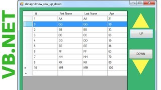 MySQL VB NET Tutorial 13 : Display selected row from datagridview to