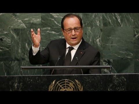 François Hollande : Le réchauffement climatique, cause des tsunamis et tremblements de terre
