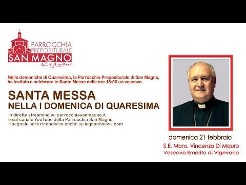 In diretta streaming dalla Basilica di Legnano la messa festiva domenicale delle 18