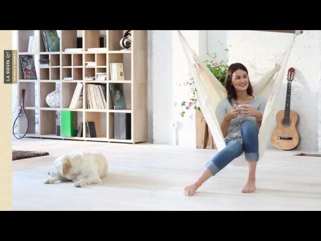 Видео Стул-гамак La Siesta Modesta подвесной arabica