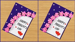 Parent's day card making handmade/ Easy and beautiful card for parent's day   Father's Day Cards
