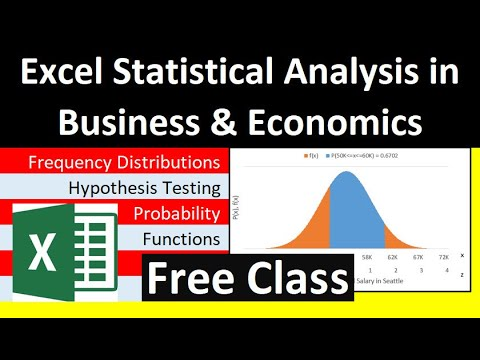 Free YouTube Excel for Statistical Analysis in Business ...