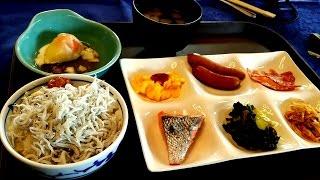 ⑩しらす丼 美味★朝食バイキング ホテル アンビエント 伊豆高原 コテージ 【 伊豆ドライブ '15】 家族旅行